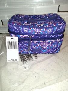 Vera Bradley Jewelry Train Case Regal Rosette MSRP $60 Travel Organizer Cosmetic