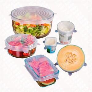 Kitchen SUPPLY Food Wraps Lids 6pcs/set Leak-proof Elastic Fresh Keeping Cover
