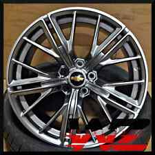 """20"""" Hyper Black Staggered New Wheels Rims 2017 ZL1 Style fits Chevrolet Camaro"""