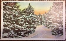 "Winter in the Mountains  ""in the land of the sky"" near  Asheville NC postcard"