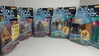 Playmates Star Trek Warp Factor Series 1-2 Lot Of 5 Figures NEW