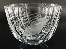 Faberge World of Wonder Russian Imperial Cooper Wheel Engraved Lead Crystal Bowl