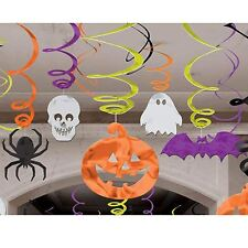 Amscan International 679468 Decorating Hanging Swirl Halloween Party Set