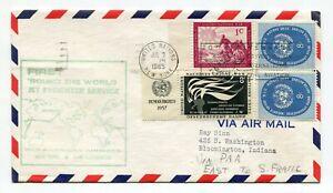 Pan American World Airways First Flight ROUND-THE-WORLD ALL-CARGO FLIGHT - UN NY
