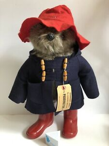 "19"" Vintage 1980 Darkest Peru PADDINGTON BEAR Toy Made in Britain Red Boots"