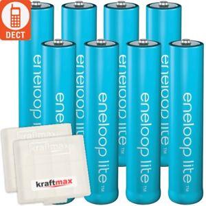 8 x Eneloop LITE AAA Micro Akkus z.B. für DECT Telefone - bis zu 3000 LADEZYKLEN