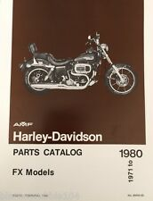 Harley FX FXE Parts Manual Catalog Book 1971-1980 Boat Tail AMF NOS OEM 99455-80