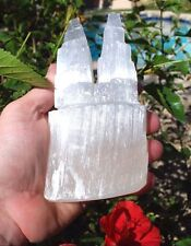 "6"" Twin Tower Divine Mind™ Selenite Crystal (Energy Healing)  - ZENERGY GEMS™"