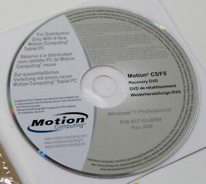 Motion Computing C5/F5 Recovery DVD Windows 7 / XP 1535-040HOMC Free Shipping