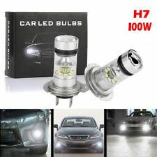 2x H7 10000W 150000LM Car COB LED headlight Kit Fog light Bulbs 6000K CREE White