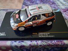 VOITURE MINIATURE IXO 1/43 CITROËN DS3 R3 N°79 Rally Monte Carlo IRC 2011