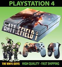 PS4 Skin Battlefield 1 War Jeux Shooter Autocollant + 2 X Pad Vinyle Lay