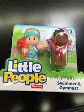 Fisher Price Little People Swimmer Olympic Gymnast Goggles Metal Sport AA Girl