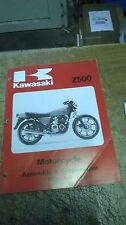 KAWASAKI Z500B ASSEMBLY & PREPARATION MANUAL  GENUINE NEW  99939-1012-01