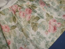 """New LAURA ASHLEY Full Double BEDSKIRT DUST RUFFLE Shabby Cabbage ROSES 14"""" drop"""