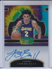2017-18 SELECT TIE DYE LONZO BALL 13/25 ROOKIE ON CARD RARE AUTO RC PRIZMS HOT