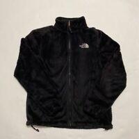 The North Face Womens Osito Fleece Jacket Black Full Zip Pockets Mock Neck S