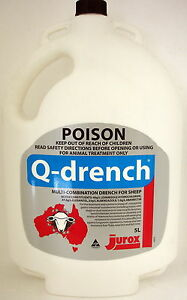 Q-Drench A Unique 4 way anthelmintic Drench for use in sheep 5 Litre