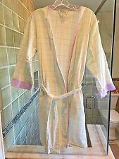 Vintage Anne Lewin New York Seersucker Cotton Short Robe, Small