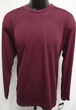Easton Spirit Long Sleeve Jersey T Shirt Tee Bio-Dri UV Protection M BURGUNDY