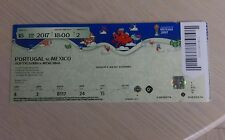 Sammler Used Ticket 2017 Fifa Confed Cup #2 Portugal - Mexico Unfolded