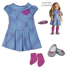 """American Girl MY AG SWEET SCHOOL DRESS Outfit for 18"""" Dolls + Charm Retired NEW"""
