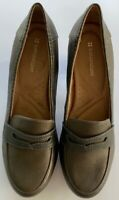 Naturalizer Womens Penny Loafers Block Heels Shoes Brown Man Made Slip On 8.5 M