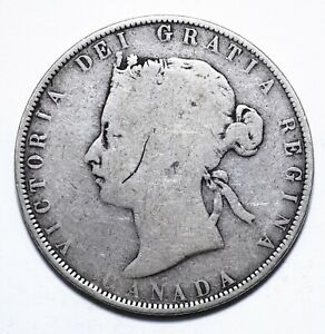 Canada, 50 Cents, Victoria, Silver, Fair, KM# 6, Lot [1582]