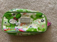 tokidoki sanrio hello kitty green makeup bag