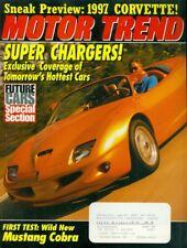 1994 Motor Trend Magazine Super Chargersmustang Cobrafuture Cars97 Corvette