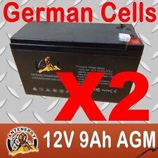 NEW 12V 9AH X2 SLA AGM battery Same Size as 12V 7ah 7.2ah 8ah Alarm Toy Light