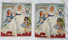 Original Heavenly Blue Wedding Paper Doll Dolls Book 1955 Merrill Co. #2580