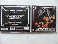 CD Album MAN Maximum darkness BGOCD43 Psyché
