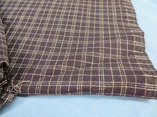 Plaid Checked Polyester Fabric Purple 3 Yards 30 Wide