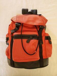 NWT Coach TREK Back Pack Perforated Red Carmine EMK F72018