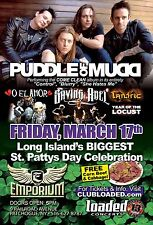 "PUDDLE OF MUDD ""COME CLEAN"" 2017 NEW YORK CONCERT TOUR POSTER- Post-grunge Music"