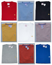 Men's BROOKS BROTHERS Solid T Shirt 1818 Crew Neck Tee 100% Cotton S M L XL XXL