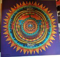 EARTH MANDALA 1970 COCORICO VINTAGE BLACKLIGHT NOS POSTER By JIM EVANS