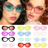 Retro Clout Goggles sparkle Sunglasses Rapper Oval Shades Grunge Unisex Glasses