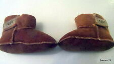 UGg boots Erin baby infant toddler tan suede sheepskin 4 NEW