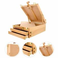 3 Layers Wooden Beech Storage Box Painting Art Supplies Easel with paintboard