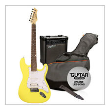 Ashton SPAG232 Complete Beginners Electric Guitar Pack, Yellow