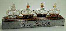Présentoir ancien Prince Matchabelli  avec ses 4 flacons-tiges