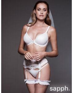Ladies Womens Luxury Ivory Lace Suspender Belt Bridal Wedding ~ SIZE 14/16
