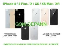 VITRE FAÇADE CAPOT ARRIÈRE CACHE BATTERIE POUR IPHONE 8 8 PLUS X XR XS XS MAX