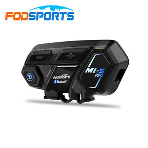 2000M Motorcycle Intercom for 8 Rider Group Talking with 2 Microphones M1-S PRO