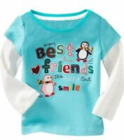 New Toddler/Girls Kids  Long Sleeve Top Size: 12-18 M, 18-24 M, 2