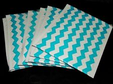 10 Blue Chevron 6x9 Poly Bubble Mailers, Padded Mailing Shipping Self Seal #0