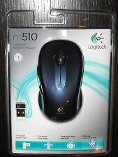 New Logitech M510 Wireless nano USB Full Size Laser Mouse-Blue/bk,Ship Worldwide