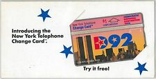 UNITED  STATES -  PHONE CARD : Complimentary card  DEMOCRATIC CONVENTION 1992